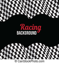 Background with checkered racing flag - Background with...