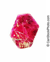 Corundum var. Ruby - A vibrant semi-translucent deep pink...