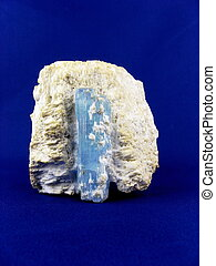 Beryl var. Aquamarine - A 12cm deep powder blue Aquamarine...