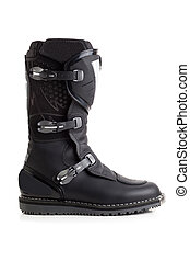 Biker MX boot isolated - Enduro boot for riding on a...