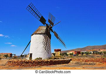 windmill in Antigua, Fuerteventura, Canary Islands, Spain