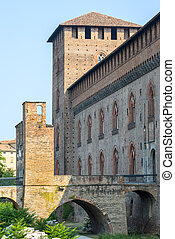 Pavia, castle - Pavia Lombardy, Italy: the medieval castle...