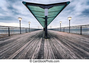 Boscombe Pier - The pier at Boscombe beach at Bournemouth in...