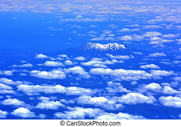 Mount Ruapehu - New Zealand - Aerial view of Mount Ruapehu...