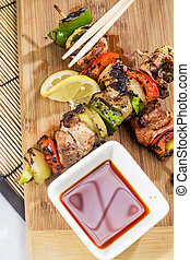 Chicken kabob Takeout Meal