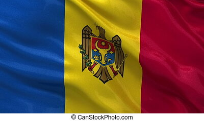 Flag of Moldova seamless loop