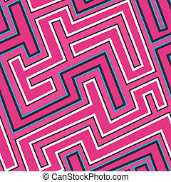 pink curve seamless pattern