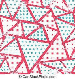 pink triangles seamless pattern