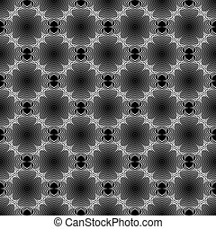 Design seamless monochrome geometric pattern. Diagonal lacy...
