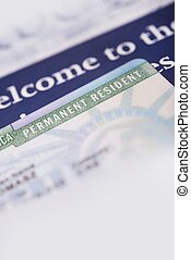 United States Green Card and Welcome Brochures Vertical...