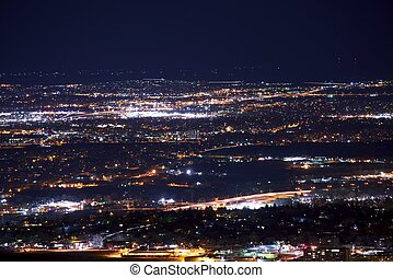Denver Metro Night Panorama - Denver Metro Long Exposure...