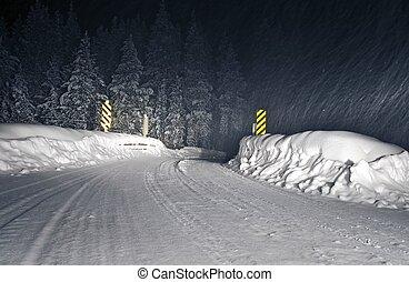 Winter Storm Colorado Road - Winter Storm Backcountry...