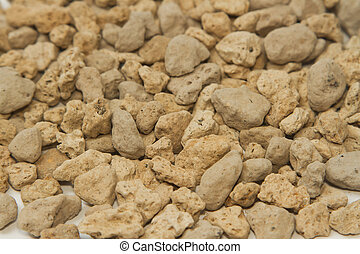 pumice pebbles ( lightweight volcanic rock ),background