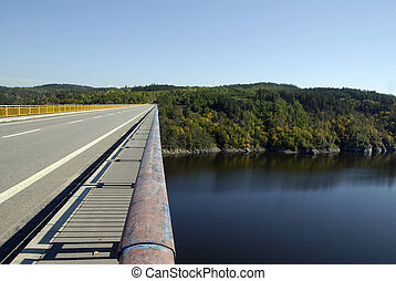 Bridge across Moldau - Bridge with road across the Czech...