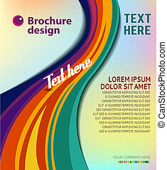 Business brochure template - Illustrated colorful layout...