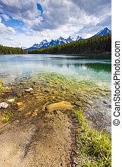 Scenic Herbert Lake of Banff National park