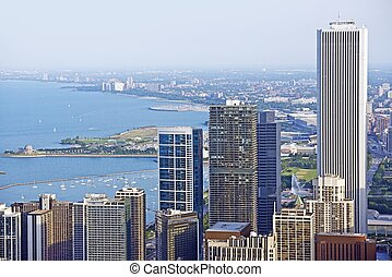 Chicago Lake Front - Downtown Chicago Lake Front. Chicago,...
