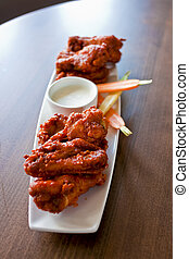 Restaurant Style Hot Wings Plate