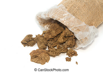 Dry cow dung in bag,Dry  manure