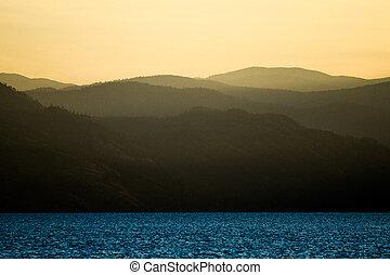 Sunset on Mountain Lake
