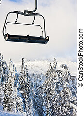 Ski Resort Chairlift in Winter