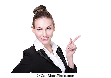 happy young business woman - Portrait of happy young...