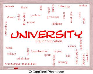 大学, 単語, 雲, 概念, whiteboard