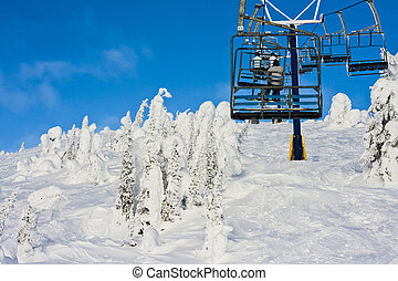 On a Ski Resort Chairlift