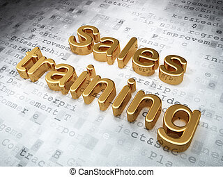 Advertising concept: Golden Sales Training on digital...