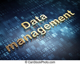 Data concept: Golden Data Management on digital background,...