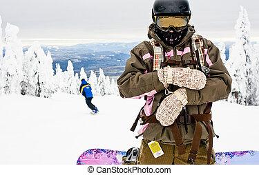 Woman at the Ski Resort