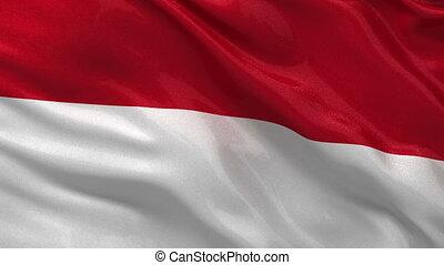 Flag of Monaco seamless loop