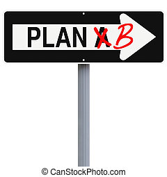 Switch to Plan B - Modified one way sign on contingency...