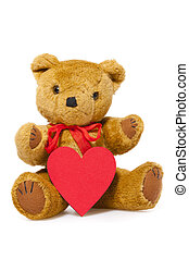 Stuffed animal Teddy - Stuffed animal teddy with a red Heart...