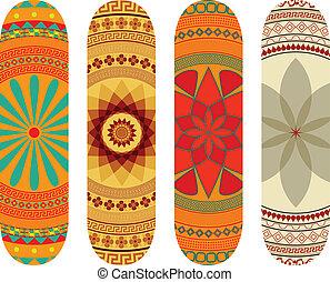 Skateboard designs - Mandala style skateboard design pack