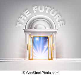 Door to the Future - The Future door concept of a fantastic...