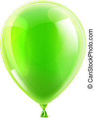 Green birthday or party balloon