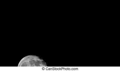 Full moon moving across the sky, 30 fps