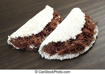 Tapioca de carne Traditional Brazilian food