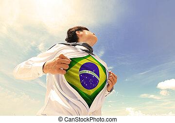 Brasil, negócio, homem