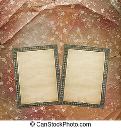 Grunge ancient used background in scrapbooking style with old archives paper