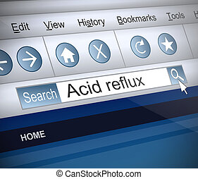Acid reflux concept. - Illustration depicting a screenshot...