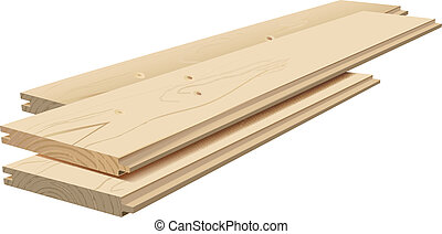planks - Vector Realistic Wooden Planks On WhiteB ackground,...
