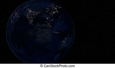 Australia at night Extremely detailed image, including...