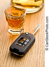 concept for drink driving - the concept for drink driving
