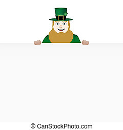 leprechaun with banner