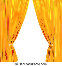 drapery isolated on a white