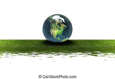 earth on the green grass