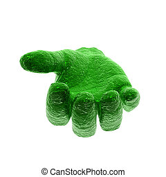 colorful open hand - colorful hand isolated on a white...