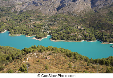 landscape around the reservoir of Guadelest, near Benidorm, Valencia